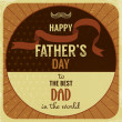 Retro style greeting card for Father's Day. — Stock Vector #26558533