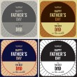 Set of retro cards for father's day.  — Stock Vector