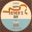 Retro style greeting card for Father's Day. - Imagens vectoriais em stock