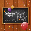 Stock Vector: Graduation party poster design.