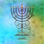 Vintage menorah over geometrical background. — Stock Vector #26558845
