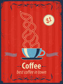 Retro style coffee shop poster. — Stock Vector