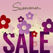 Summer sale poster design. — Stock Vector