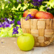 Basket with apples — Stock Photo #26616999