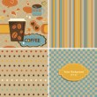 Set of retro style seamless patterns. — Stok Vektör