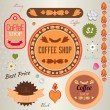 Set of retro labels for coffee shop. — Stock Vector