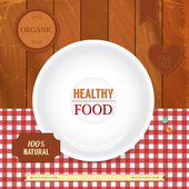 Set of retro labels for healthy food. — Stock Vector