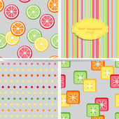 Set of summer colorful seamless patterns. — Stock Vector