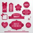 Set of quality best selling paper labels, tags and badges. — Stock Vector