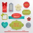 Set of quality best selling labels, tags and badges. — Stock Vector