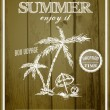 Retro summer poster design. — Vettoriale Stock