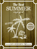 Retro sommer-poster-design. — Stockvektor