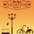 Retro style poster design for holiday vacation. — Vecteur #28190953