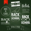 Stock Vector: Back to school text on chalkboard.