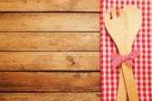 Background with wooden table — Stock Photo