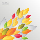 Abstract colorful background with autumn leaves — Stock Vector