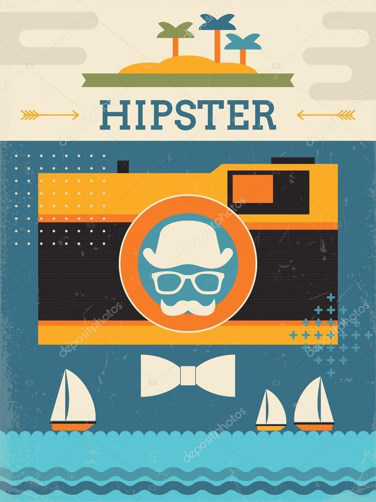 Hipster Poster Design Poster Design With Hipster