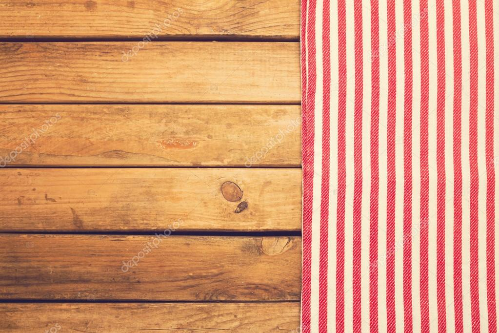 Table Cloth Kitchen Nin On Wooden As Background Po By Stevanovicigor
