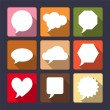 Speech bubbles flat icons set.  — Stock Vector