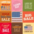 Label Day sale poster and banners. National USA holiday. — Stock Vector