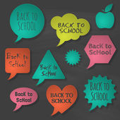 Terug naar school bubbels spraak set — Stockvector