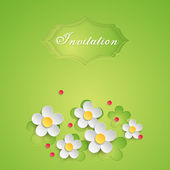 Floral background design for invitation, greeting card or banner. — Stock Vector