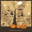 Halloween greeting card design. — Stok Vektör