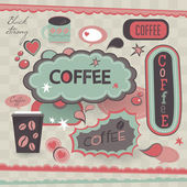 Retro style coffee shop poster design. — Stock Vector