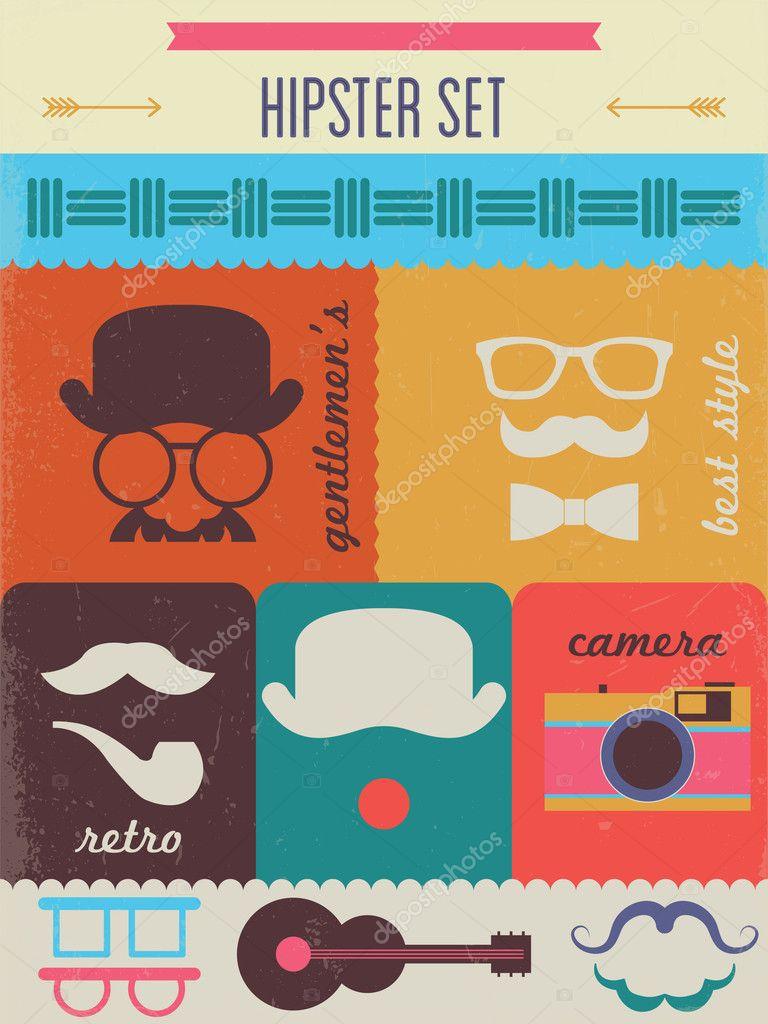 Hipster Poster Design Fashion Hipster Poster Design