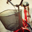 Retro vintage bicycle detail — Stock Photo