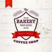 Bakery vintage logo label or badge design — Stock Vector