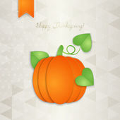 Thanksgiving greeting card — Stock Vector