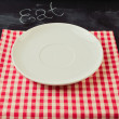 Stockfoto: Empty plate with knife and fork