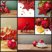 Collage of Christmas holiday photos — Stock Photo