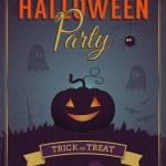 Halloween party poster design — Stock Vector