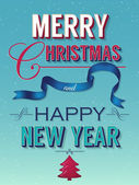 Feliz natal e feliz ano novo — Vetor de Stock