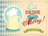 Oktoberfest holiday poster — Stock Vector