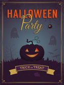 Halloween party poster design — Stock Vector