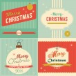 Christmas retro greeting card set. — Stock Vector