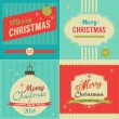 Christmas retro style greeting card — Stock Vector