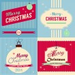 Christmas retro style greeting card — Stock Vector #31926541