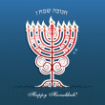 Jewish holiday Hanukkah greeting card — Stock Vector