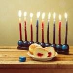 Jewish holiday Hanukkah setting — Stock Photo