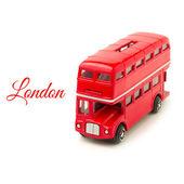 London bus money box toy — Stock Photo