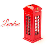 London telephone booth money box — Stock Photo
