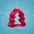 Vector de stock : Christmas tree ornament.