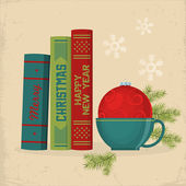 Merry Christmas greeting card design. — Stock Vector