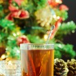 Hot Christmas drink  — Stock Photo