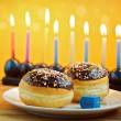 Jewish holiday hanukkah — Stock Photo #34166165
