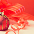 Photo: Christmas background with ornament ball